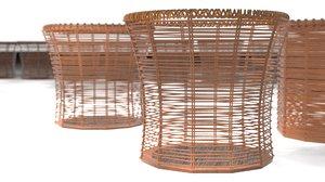 knitting baskets 3D model