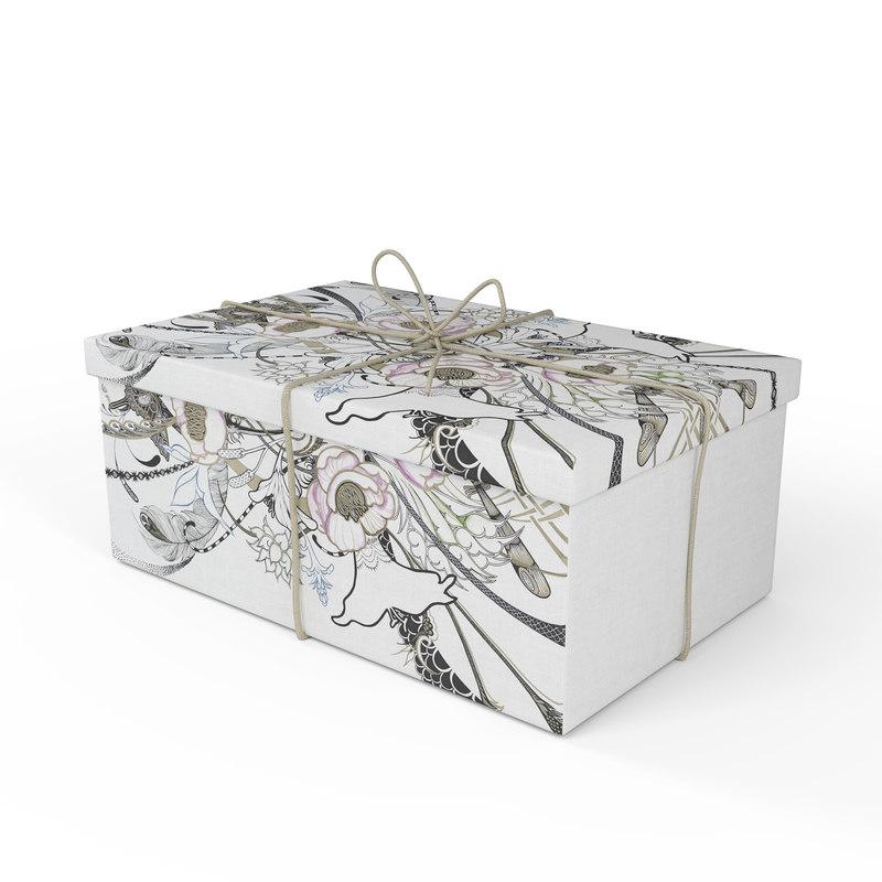 3D present - gift box model