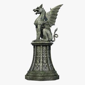 gothic statue 05 3D