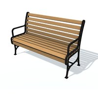 3D model usual bench h