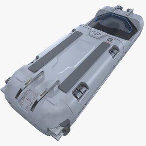sci-fi cryopod 3D
