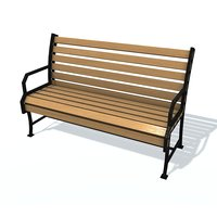 3D usual bench j model