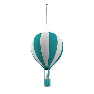 3D model hot air ballon