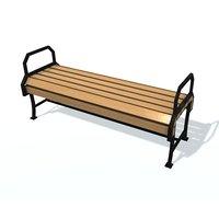 usual bench k 3D model