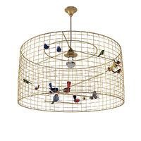 bird cage chandelier 3D