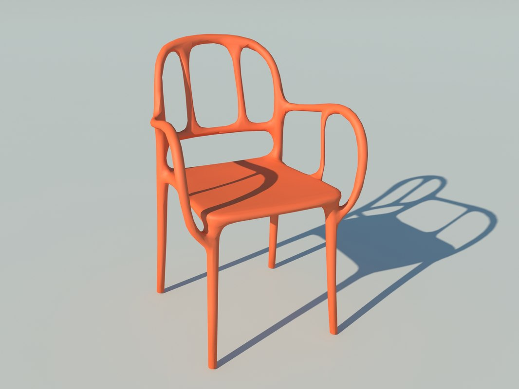 3D magis mila chair design