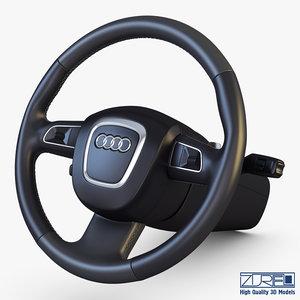 steering wheel audi q7 3D