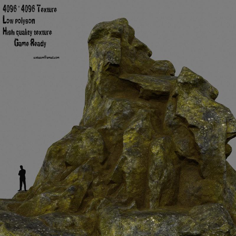 3D rock mount mountain