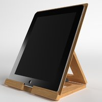 3D tablet stand desktop table model