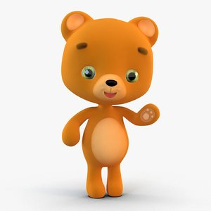 cute cartoon teddy bear 3D model
