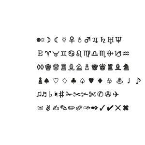 3D symbols set22 cg cad model