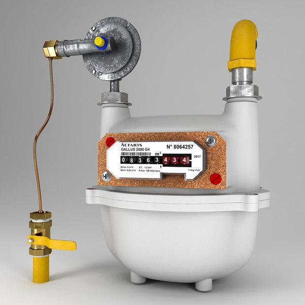 Gas Meter 3D Models for Download | TurboSquid