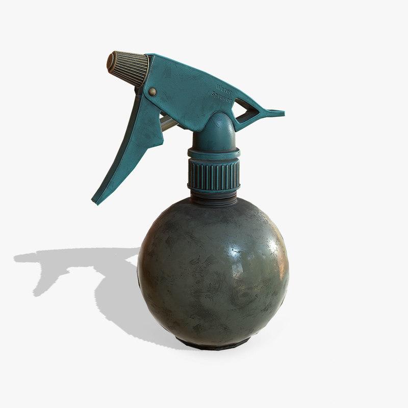 3D sprayer pbr model