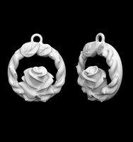 3D pendant rose