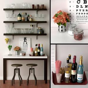 3D creative home bars