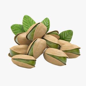 realistic pistachio nut 3D