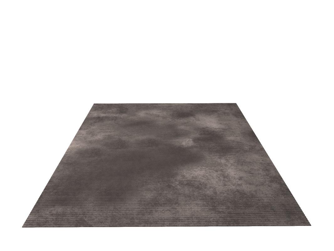 3D carpet taupe piazzo model