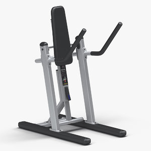 3D model abdominal trainer precor v-crunch