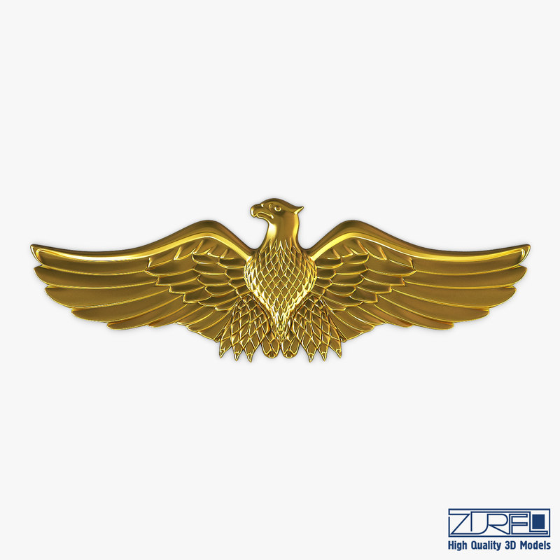 eagle insignia gold 3D model