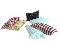 3D pillow multi color model