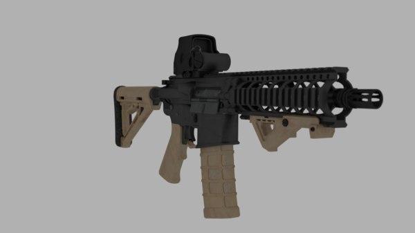 ar15 magpul eotech 3D model
