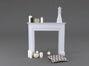 3D fireplace mantel freeport model