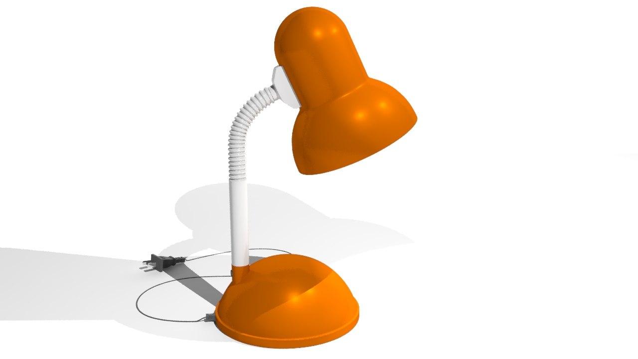 modeled lamp model