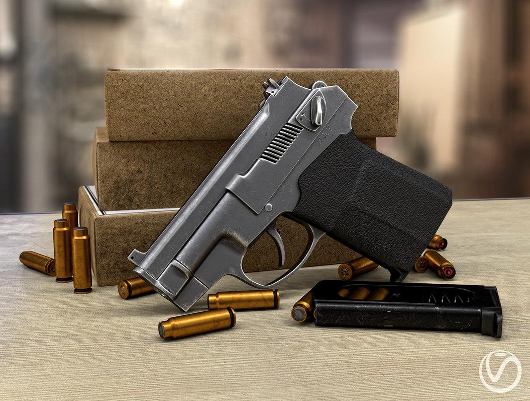 3D model silent pistol pss games
