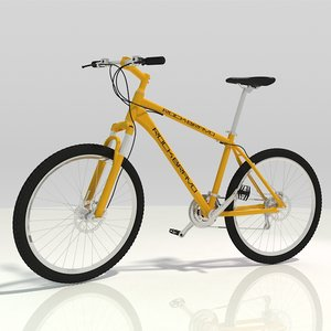 3D mountain bike generic - model