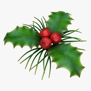 3D holly berry 2