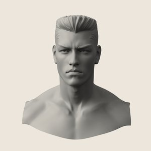 3D man manly model