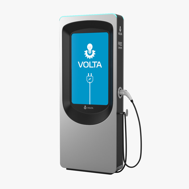 3D volta electric vehicle charger model