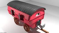 romani vardo wagon 3D model
