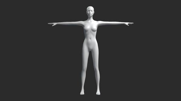 3D female mesh