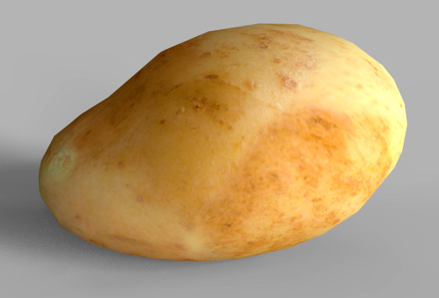 3D seamless potato