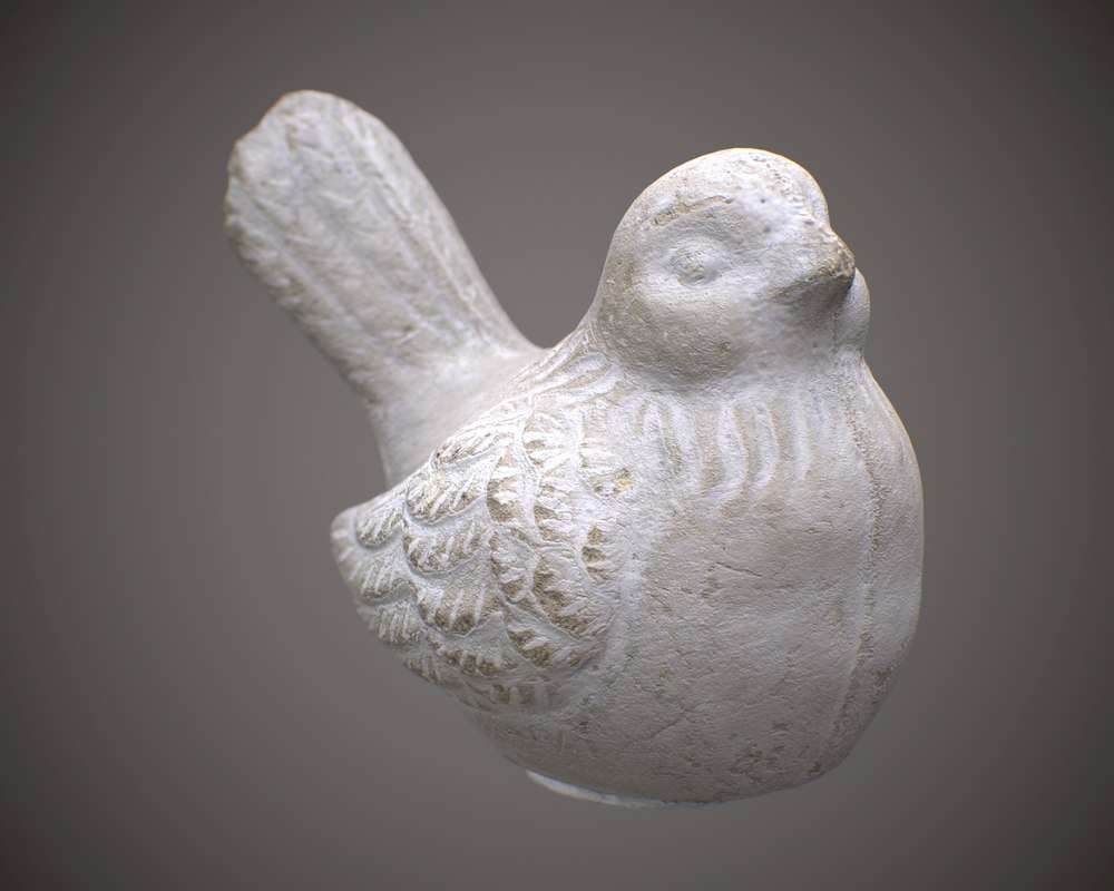 3D ornament bird model