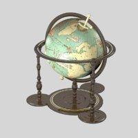 globe wooden 3D model