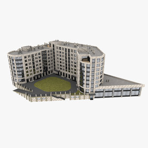 residential apartment condominium 3D model