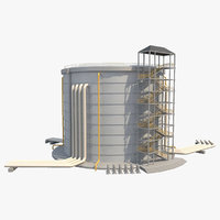 3D industrial silo