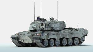 3D challenger 2 mbt tank