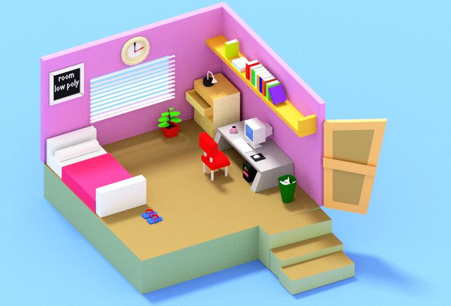 room cartoon model