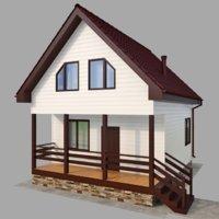 3D model frame house