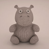 hippo toy 3D model