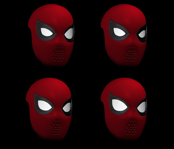 spider-man homecoming faceshell lenses 3D model