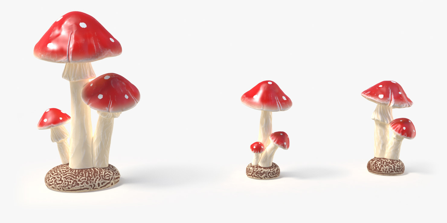 mushrooms statuette 3D model