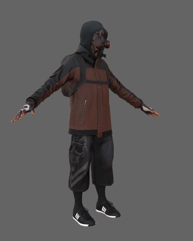 3D character games model