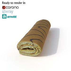 roll cake 3D model