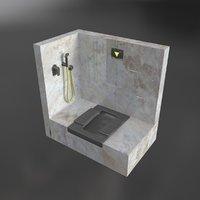 3D model squat toilet