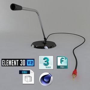3D microphone phone model