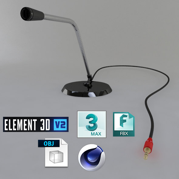 3D microphone phone model
